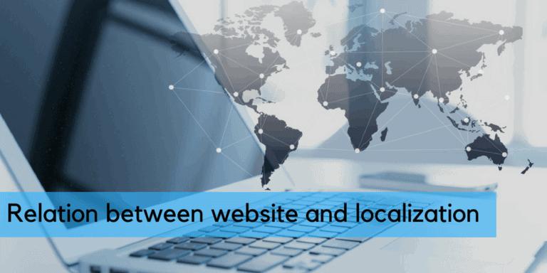 Relation between website and localization