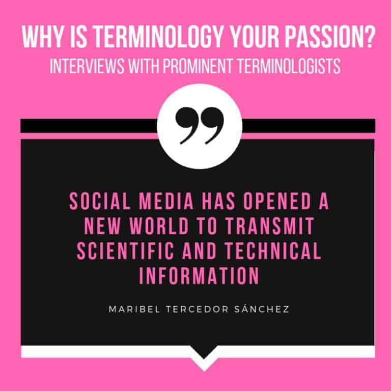 Interview with Terminologist Maribel Tercedor Sánchez