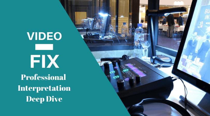 Video-Fix Professional interpretation deep dive feature
