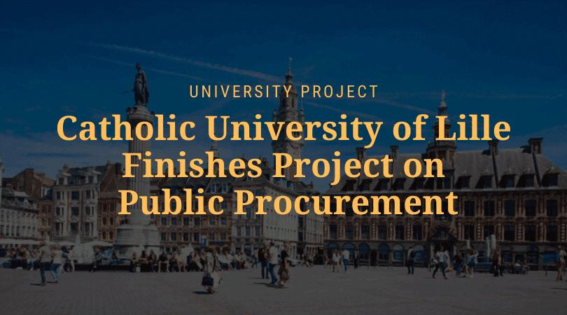 University of Lille university project public procurement feature