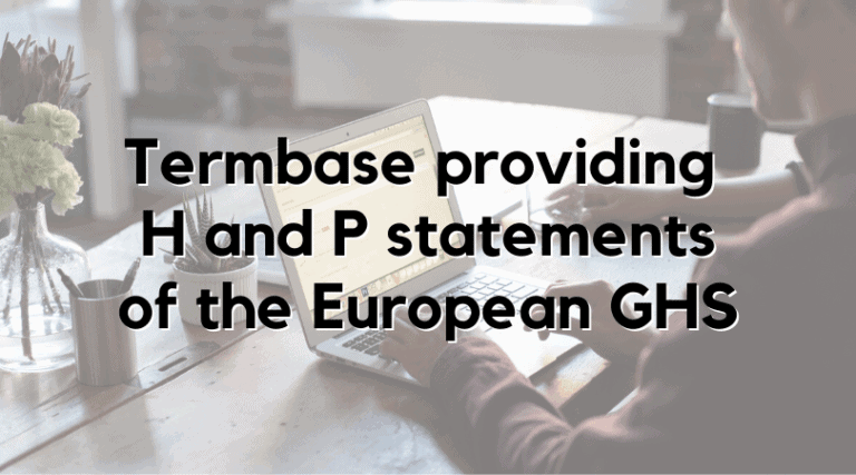 Termbase providing H and P statements of the European GHS
