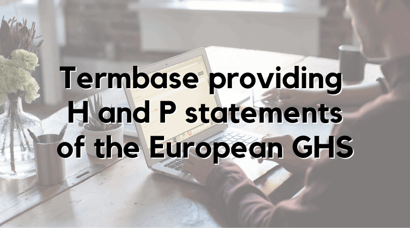 Termbase H and P statements feature