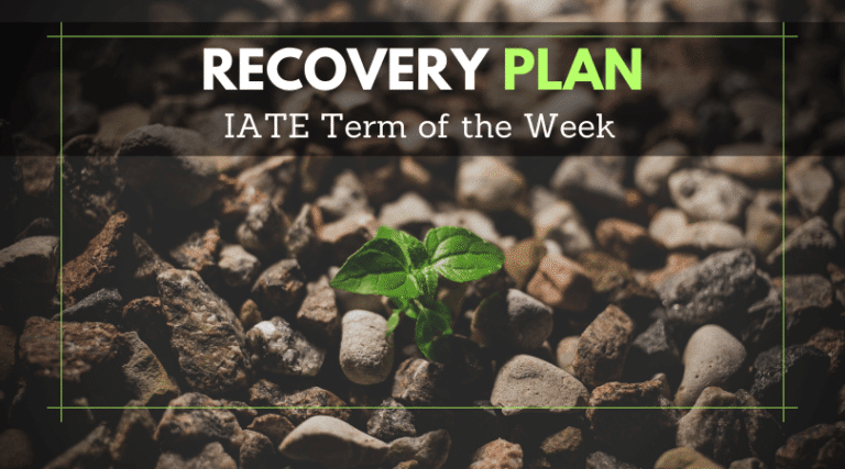 IATE Term of the Week: Recovery plan