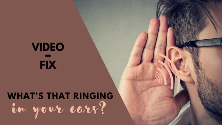 Video-Fix: What's that Ringing in Your Ears?