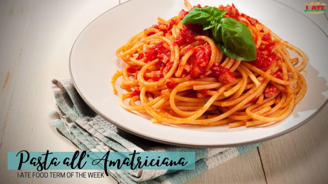 I-ATE Amatriciana Feature