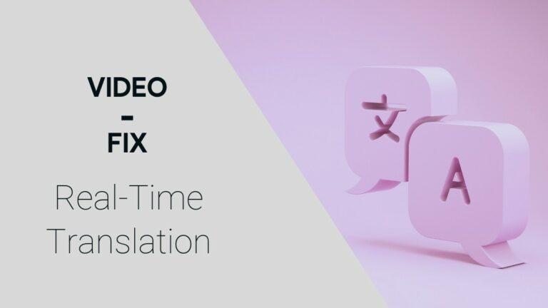 Video-Fix: Interpreter Breaks Down How Real-Time Translation Works