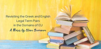 Revisiting the Greek and English Legal Term Pairs in the Domains of EU