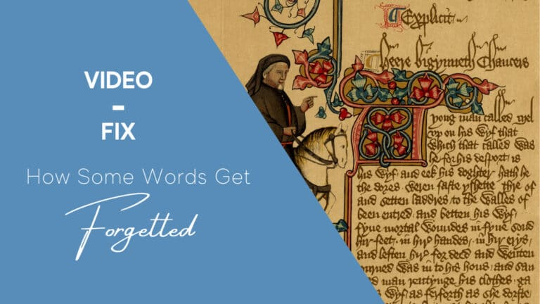 Video-Fix: Why are verbs irregular in English?
