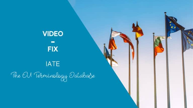 Video-Fix: IATE, the EU Terminology Database