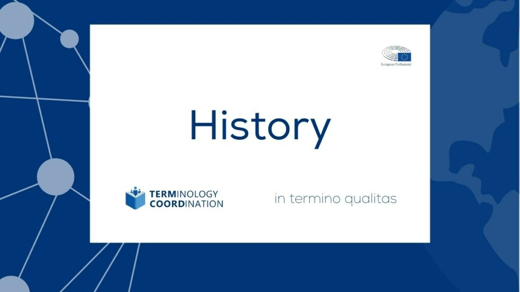 History of Terminology in the EU