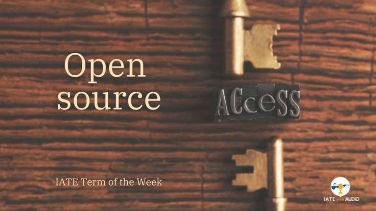 IATE Term of the Week: Open-source
