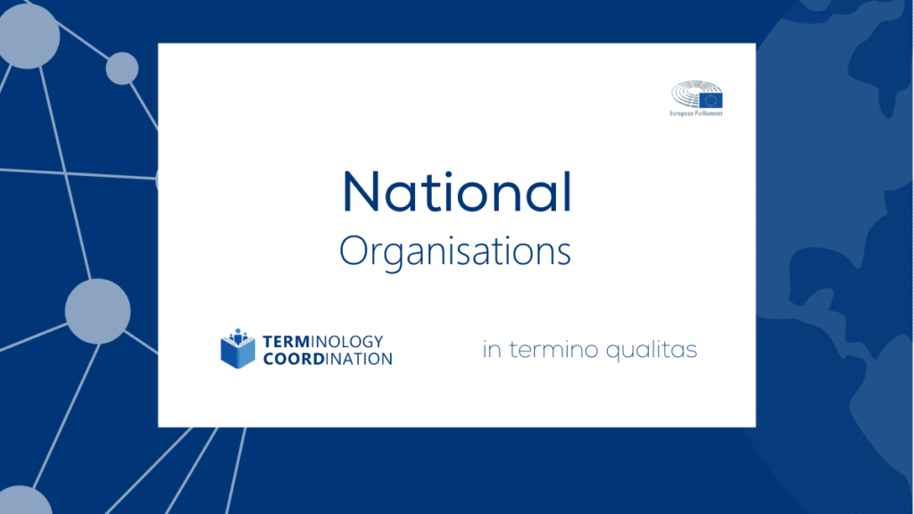 National Language and Terminology Organisations 1
