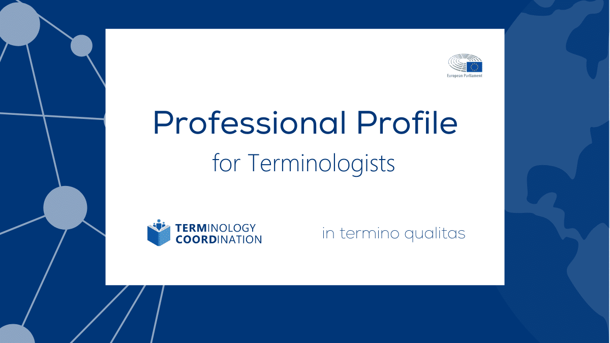 Professional Profile for Terminologists