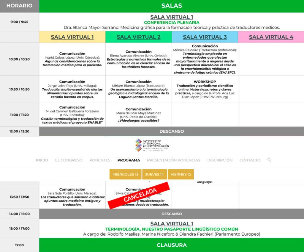 Screenshot 2021 01 25 IV y V Congreso Internacional Ciencia y Traduccion