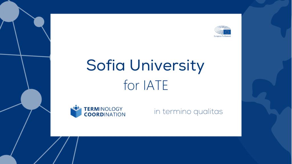 Sofia University for IATE