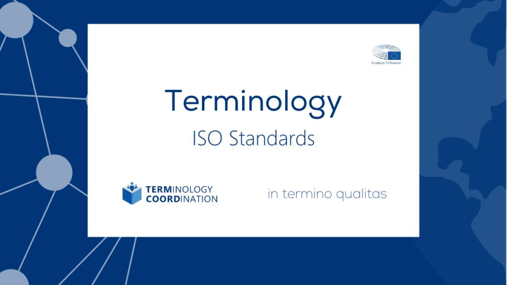 Terminology ISO standards 1