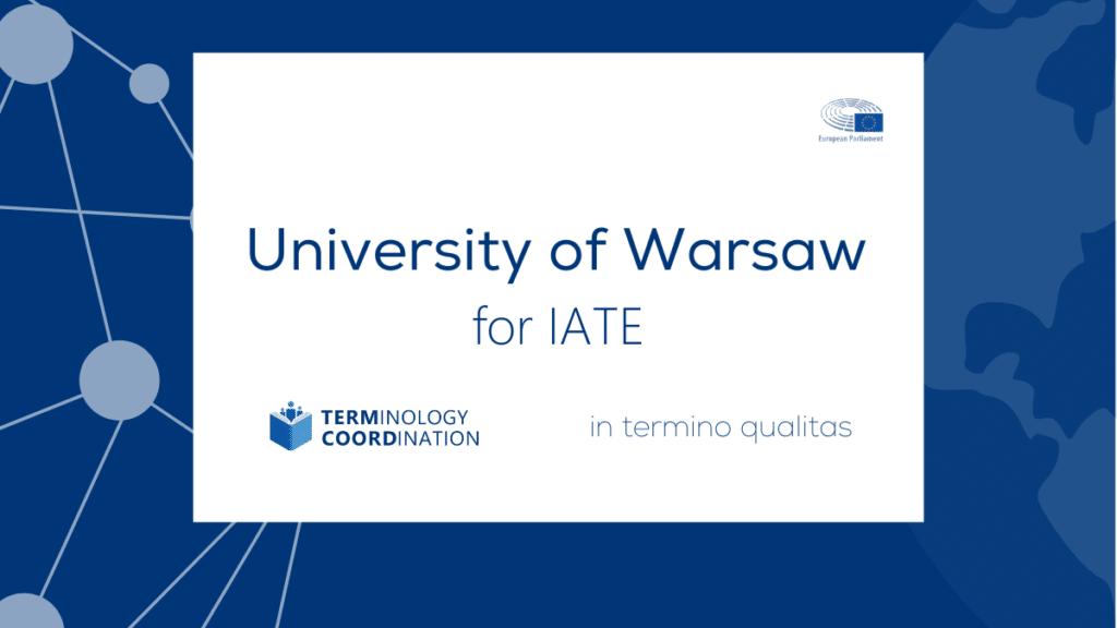 University of Warsaw for IATE