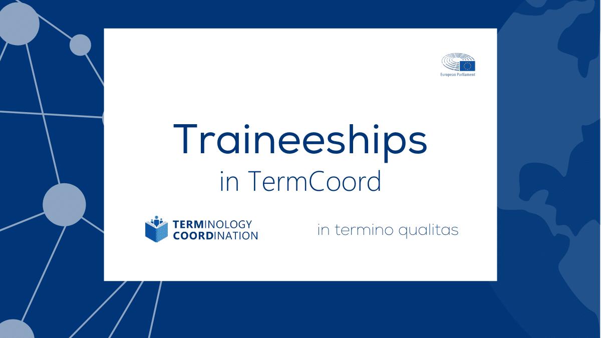 Traineeships in TermCoord