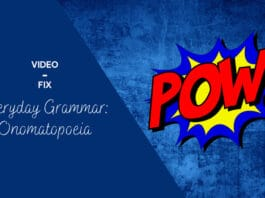 visual for the figure of speech onomatopoeia