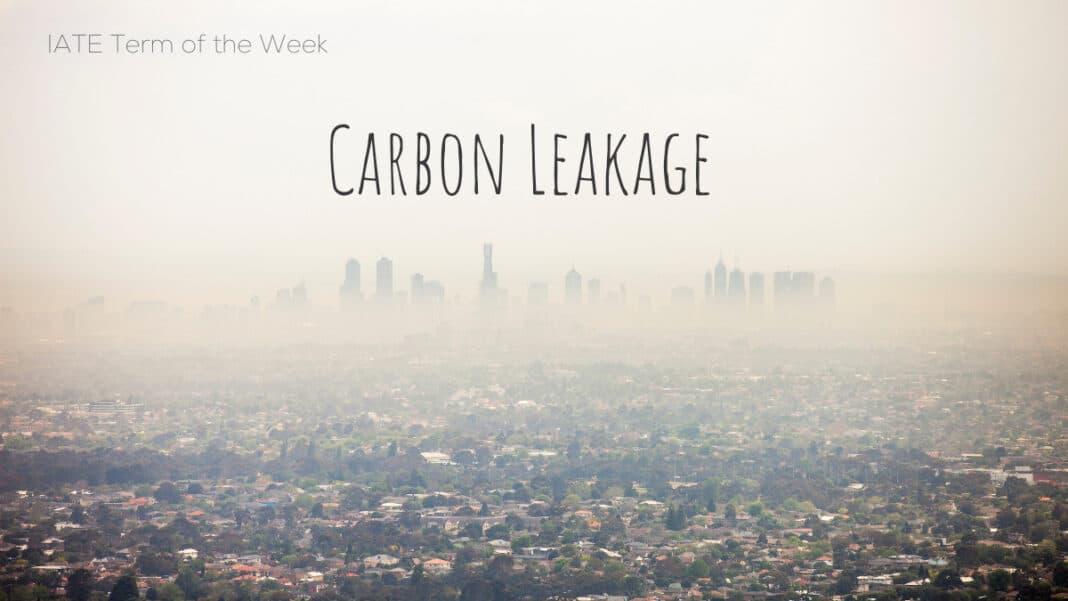 Carbon-Leakage-IATE-Term-of-the-Week