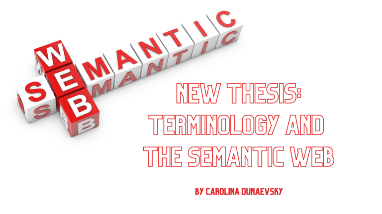 New thesis: Terminology and the Semantic Web