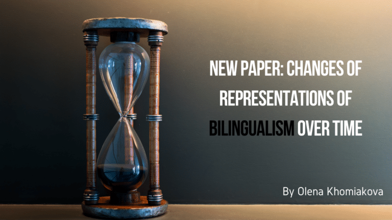 New paper: Changes of representations of bilingualism over time