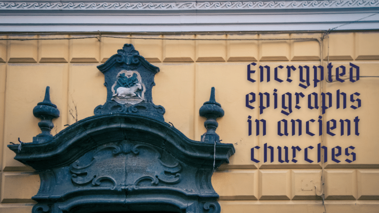 Encrypted epigraphs in ancient churches