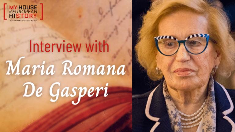 MyHEH: interview with Maria Romana De Gasperi