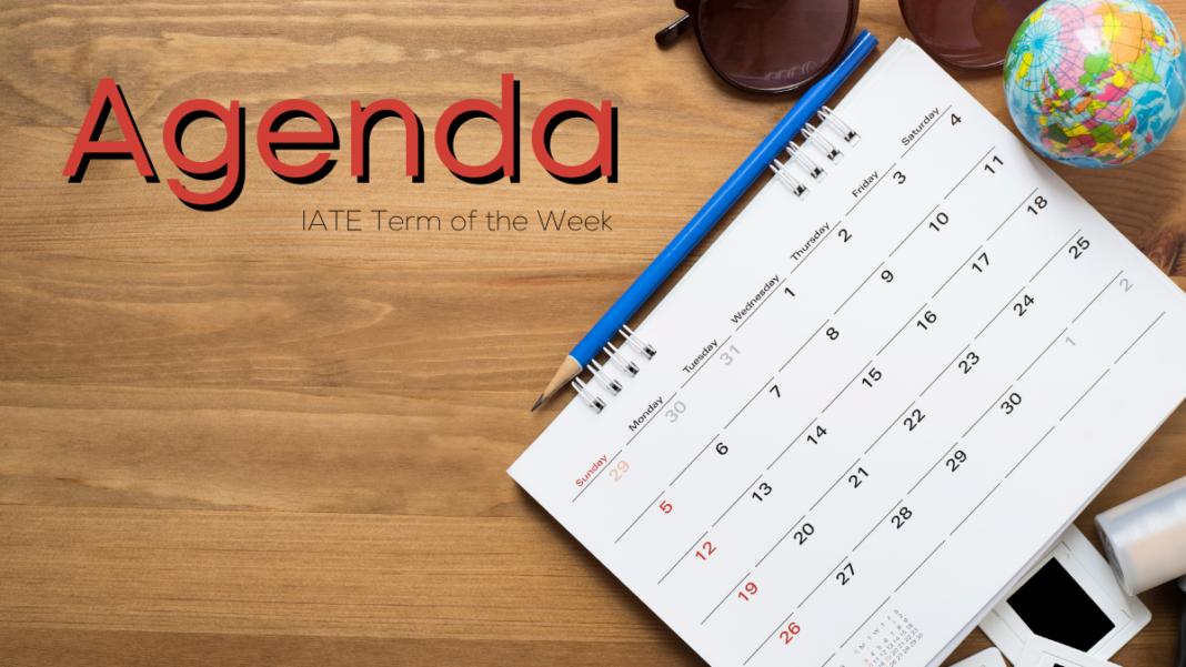 Agenda as a synonym to calendar and notebook